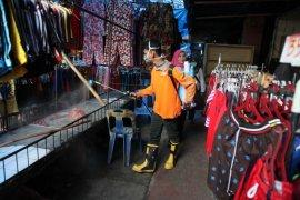 Pasar Horas Pematangsiantar disterilisasi cairan disinfektan