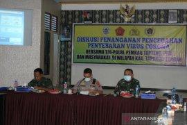 Polres Tapteng diskusi bersama dengan lapisan masyarakat untuk pencegahan COVID-19
