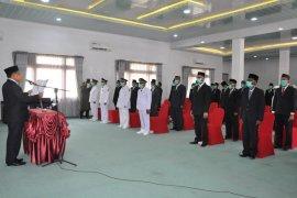 Cegah COVID 19, Ini pejabat Aceh Timur pakai masker saat dilantik