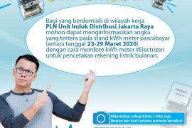 PLN minta pelanggan laporkan pemakaian listrik lewat online