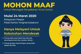 Kantor Imigrasi Sukabumi batasi pelayanan paspor