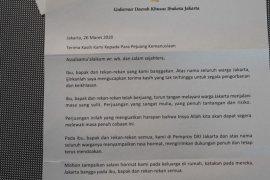 "Anies Baswedan kirim ""surat cinta"" buat para tenaga medis  yang menangani pasien COVID-19"