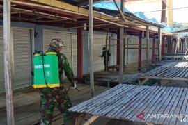 Kodim 1314/Gorontalo Utara penyemprotan disinfektan di area publik