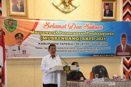 Bupati Tapsel buka  musrenbang RKPD tahun 2021