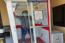 Satresnarkoba Polresta Banjarmasin sediakan box disinfektan sterilisasi personel