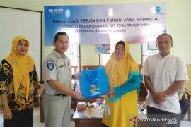 Jasa Raharja Babel salurkan bantuan sembako warga Desa Penyak