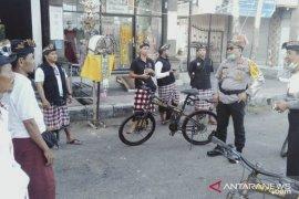 Kapolres Gianyar  bersepeda pantau pelaksanaan Nyepi