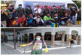 Puluhan rumah ibadah di Tebing Tinggi di semprot disinfektan