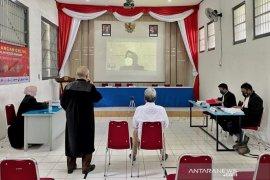 Rutan Bandung gelar sidang pidana secara daring