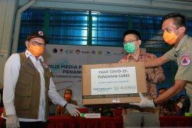 Dua ton alat kesehatan bantuan China ke Indonesia dikirim melalui jalur laut
