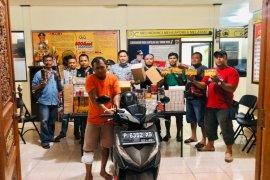 Polres Badung tangkap residivis pencuri ratusan pak rokok