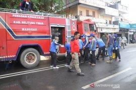 Pemkab Belitung Timur semprotkan 18.000 liter disinfektan