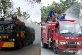 Antisipasi COVID-19, Pemkot-Polres Tanjungbalai lakukan penyemprotan disinfektan massal