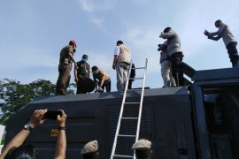 Pemkot - Polres Tebing Tinggi lakukan penyemprotan disinfektan seluruh wilayah Kota Tebing Tinggi