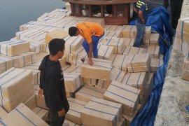 Bea cukai gagalkan penyelundupan 10,2 juta batang rokok di Aceh Utara