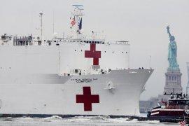 Sejumlah pasien kapal rumah sakit militer AS positif corona