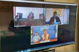 Sidang perdana melalui video comference di Sibolga lancar