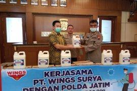 Polda Jatim akan semprotkan 850 ribu liter cairan disinfektan