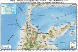 Sulteng diguncang 72 kali gempa susulan empat hari terakhir