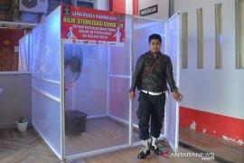 Bilik sterilisasi cegah corona di Lapas Banda Aceh