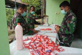 Kodim 0907 Tarakan Distribusikan 1.113 Liter Sabun Cuci Tangan