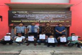 Tujuh warga binaan Lapas Narkotika Kelas II A Langkat dibebaskan cegah COVID-19