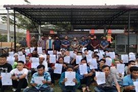 55 narapidana Lapas narkotika kelas II A Langkat dibebaskan antisipasi COVID-19