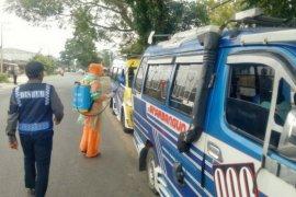 Dinas Perhubungan Simalungun sterilisasi kendaraan angkutan umum