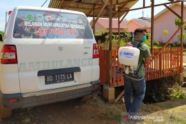 MDMC Bengkulu semprot disinfektan ke pemukiman warga