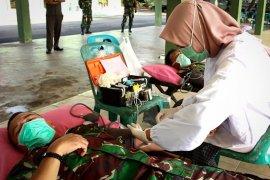 Stok darah menipis, Kodim Aceh Timur donor darah