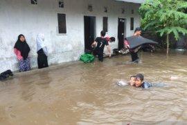 Banjir genangi tujuh titik di wilayah Jember
