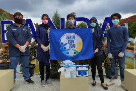 Cegah COVID-19, Gergana bagikan masker di tengah pandemi corona