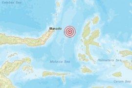 Gempa magnitudo 5,5 guncang  Sulut