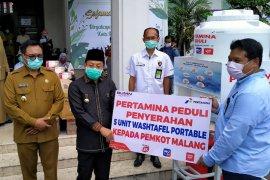 Pertamina tempatkan alat cuci tangan portabel di lima pasar rakyat Kota Malang