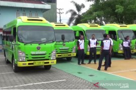 Dishub menghentikan sementara operasional bus Trans Banjarmasin