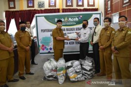 Bank Aceh sumbang 2.000 masker untuk Aceh Tengah