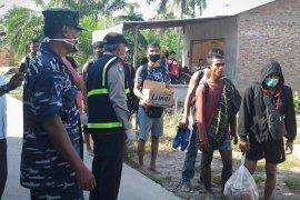 Lanal Tanjung Balai Asahan amankan 36 TKI ilegal