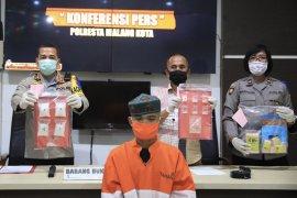 Polisi bekuk kurir narkoba di Kota Malang