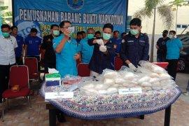 BNN Sumut musnahkan barang bukti 26 kilogram sabu-sabu