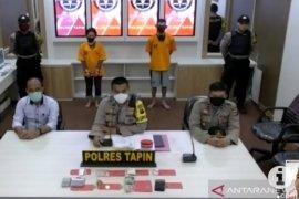 Polres Tapin menyita 120 gram sabu-sabu dari tangan suami istri