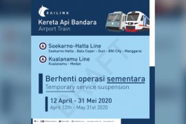 KA Bandara berhenti operasi 12 April-31 Mei