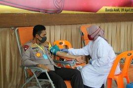 Polda Aceh sumbang puluhan kantong darah