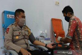 Polres Aceh Utara sumbang darah 48 kantong