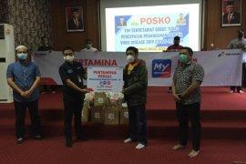 Pertamina Aceh salurkan 150 paket sembako untuk masyarakat terdampak COVID-19
