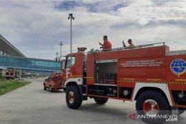Bandara APT Pranoto Samarinda kembali disemprot disinfektan