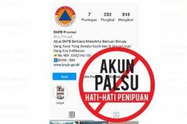 Hati-hati penipuan  mengatasnamakan BNPB untuk cari donasi