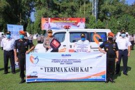 KAI Daop 7 salurkan bantuan mobil jenazah untuk Polres Madiun