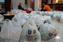 Pramuka Banten bagikan 300 paket sembako buat warga terdampak COVID-19