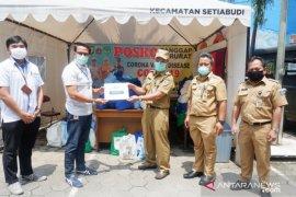 PTPN III Holding bagikan sembako kepada warga terdampak pandemi COVID-19