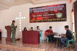 Personel TMMD semangati paduan suara Gereja GAPPIN Dusun Jonti